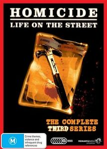 Homicide Life On The Street : SEASON 3 SERIES THREE (DVD 6-Disc Set) BRAND NEW