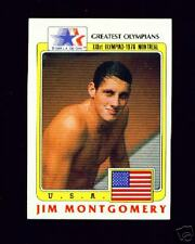 (100) 1983 OLYMPIC JIM MONTGOMERY SWIMMING 100M CARDS