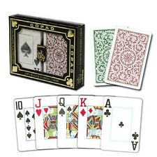 Copag Bridge Size Jumbo Index 1546 Playing Cards (Green/Burgundy) New