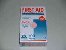 FIRST AID BAND AID PLASTIC SPOTS (100/BOX)