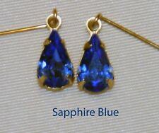 Sapphire Blue Rhinestone Earrings Fashion Doll Cissy Vintage Miss Revlon Toni