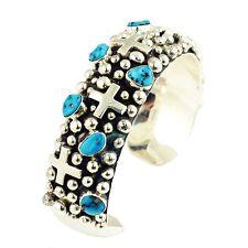Sleeping Beauty Turquoise Cuff Bracelet by Brenda Barbone