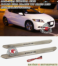 JDM Style Side Door Sill (Stainless Steel) + Blue LED Fits 11-16 CR-Z 2dr