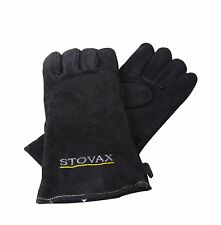 Stovax Leather Stove Gloves - Heat Resistant for Stoves Log Wood Fire range BBQ