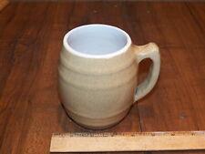 Vintage UHL POTTERY CO. Stoneware Barrel Shaped Mug - Huntingburg Indiana