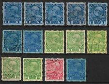 Austria 1908 Austrian Empire Issue Part Set Fine Used & Mint