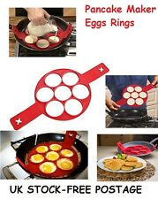 Egg Rings Pancake Maker Mould Silicone Omellette Making Breakfast Birthday Gifts