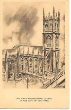 THE FIRST PRESBYTERIAN CHURCH IN NEW YORK CITY OF NEW YORK POSTCARD