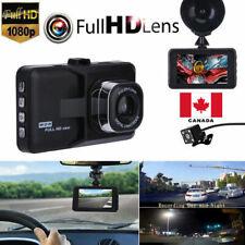 """3"""" Dual Lens LCD Car DVR Camera Video Recorder Dash Cam G-Sensor Canada"""