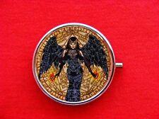 WITCH PENTAGRAM WINGS DARK ANGEL VINTAGE ROUND METAL PILL MINT BOX CASE