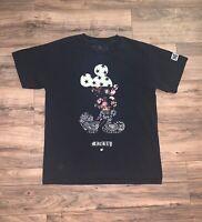 Disney Mickey Mouse NEFF Black Short Sleeve T-Shirt Size Large