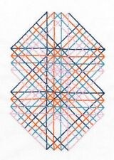 DMC Geometry Rules Right Angles Printed Embroidery Kit