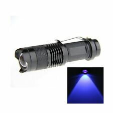 JOYLIT Blue Light 365nm LED Flashlight Mini Focus Tactical Waterproof 3 Modes...