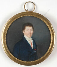 """Portrait of a gentleman from Period of Restoration"", French miniature"