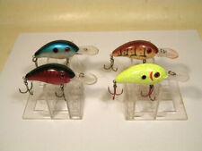4 Strike King Pro Model 3 Chartreuse Crawfish Red Blue rattle crankbait lure