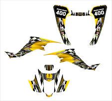Suzuki LTZ400 Z400 KFX 400 graphics 2003-2008 custom decal kit #2500 Yellow