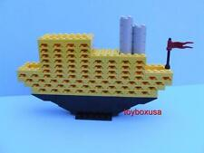 Custom Sculpture Boat Cruiser Yacht Ship Vacation Liner Built W/ New Lego Bricks