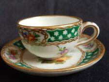 A'/ Tasse et soucoupe Porcelaine Allemande / DRESDEN