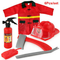 Fireman Toys set Firefighter Clothing Children Cosplay House Toy Boys Firefight