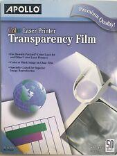 Apollo® Color Laser Transparency Film, Letter, Clear, 50/Box Non-Striped
