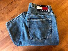 Tommy Hilfiger denim jeans men 5 pocket med wash flag patch 33/30