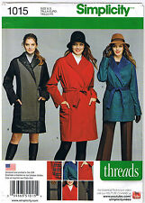 Coat Jacket Separate Button Out Lining Raincoat Sew Pattern Plus 16 18 20 22 24