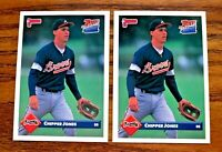 1993 Donruss #721 Rated Rookie Chipper Jones - Braves HOF (2)