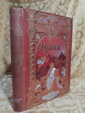 1896 Rome Et Ses Pontifes Decorated Antique Book Dedicated to Portland ME Bishop