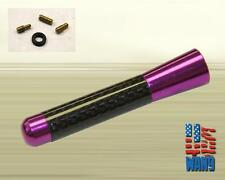 Mitsubishi Evo 8 9 JDM Purple Carbon Aluminum Screw-in Car Auto AM/FM Antenna