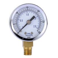 Hydraulic Liquid Filled Pressure Gauge 0~30 psi For Air Compressor Water Oil Gas