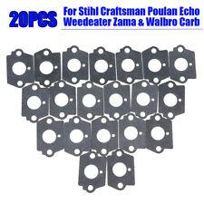 Engine Carburetor Gaskets For Stihl Craftsman Poulan Zama Walbro 20Pcs Rebuild