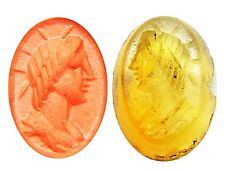 Lovely Ancient Roman Intaglio Seal of Sol the Unconquered Sun c. 3rd century AD