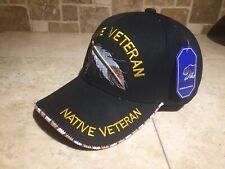 USMC Native American Veteran Beaded baseball hat Native Pride Hat New Beadwork