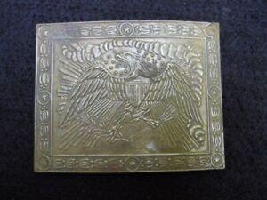 Rare pre Civil War non dug buckle 1837 Officer's waist belt plate Smithsonian