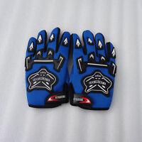 BLUE  Kids Children Motorcycle Gloves Motorbike Gear Motorcross S-M-L Size