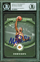 Lakers Magic Johnson Authentic Signed 2008 Topps Treasury #98 Card BAS Slabbed
