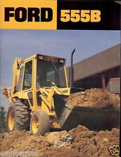 Equipment Brochure - Ford - 555B - Tractor Loader Backhoe - c1985 (E1570)