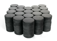 Bulk Blank Ice Hockey Pucks - 12/25/50/100 Puck Case - Official Regulation 6 oz