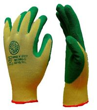 60 Pairs x Latex Grab N Grip Palm Coated Gloves - GNGP - Green - Size 11