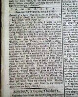 AMERICAN IN CHAOS ? Post Revolutionary War - Rare Title 1783 British Newspaper