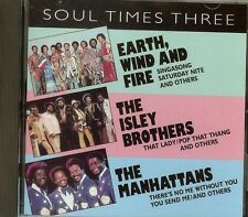 """Soul Times Three"" Earth Wind Fire / The Manhattans /Isley Brothers Brand NEW CD"