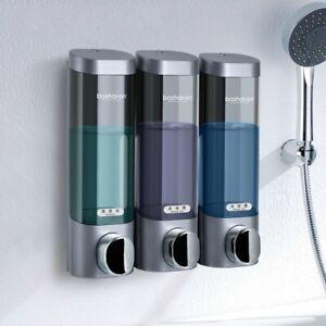 Liquid Soap Dispenser Shower Gel Shampoo Bottles Wall Mounted Bathroom 300ML