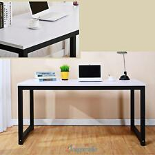 Computer Desk White Wood PC Laptop Table Workstation Study Home Office Furniture