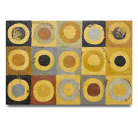 NY Art - High Fashion Retro-Modern Circles Abstract 24x36 Oil Painting on Canvas
