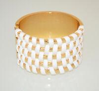BRACCIALE RIGIDO donna ORO BIANCO a schiava dorato ecopelle sexy bracelet BB50