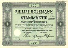 Aktie Philipp Holzmann AG 100 RM 1933 Frankfurt am Main