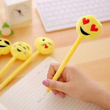 Emoji Emotion Ball Point Pen Plush Stationary Favor Party Business Supply Filler