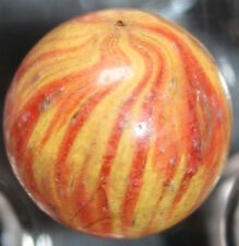 GERMAN MARBLE HANDMADE END OF DAY MARBLE ONIONSKIN EGG YOLK COLOR 0.77""
