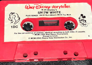 Rare Vintage Disney Cassette Tape Snow White