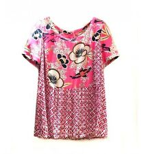 WHITE STUFF Flowers blouse floral top summer petal pink white cool RRP £49.95